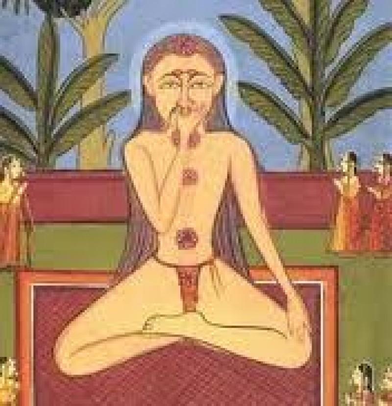 Lezione di yoga e respiro